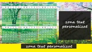 calendar galben zona personalizare