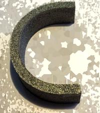 litera polistiren argintiu 2c