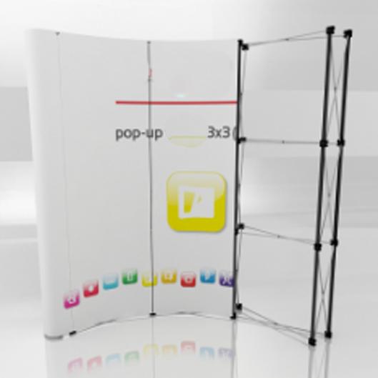 pop up Opt V curved 3x3 prez